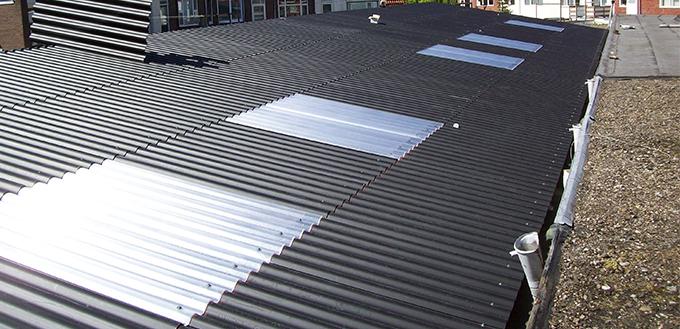 Garage: dakplaten vervanging
